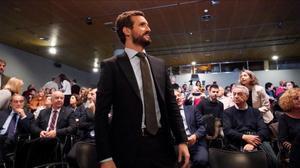 Pablo Casado, el pasado 10 de diciembre en Madrid.