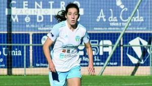 La jugadora del InterRías durante un partido.