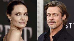 Un montaje con fotos de Angelina Jolie y Brad Pitt.