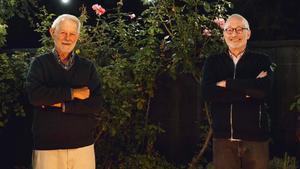 Los economistas estadounidenses Robert Wilson (izquierda) y Paul Milgrom, este lunes, tras ganar el Nobel de Economía.