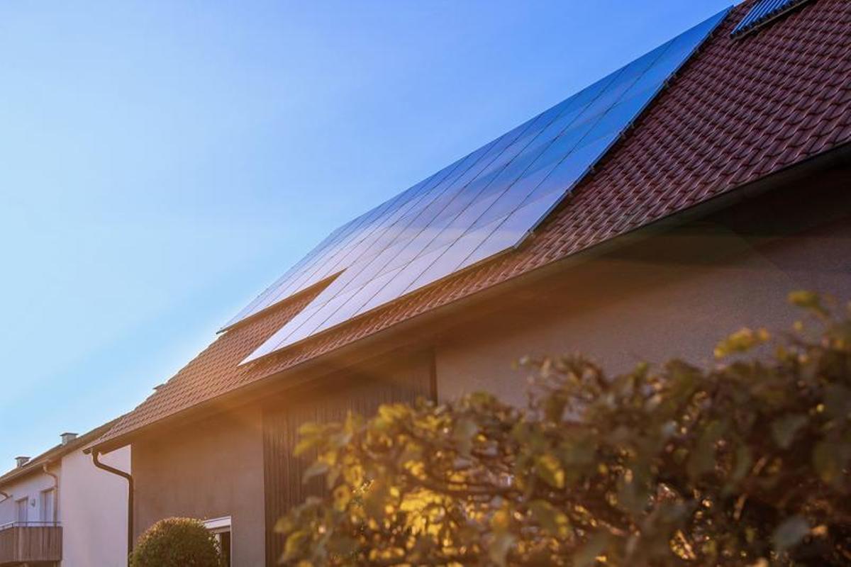 Placas solares en una vivienda