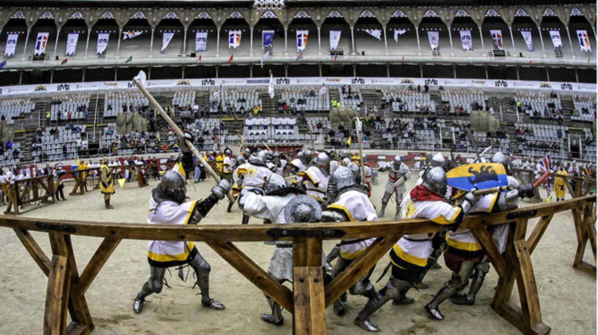 Batalla medieval en Barcelona