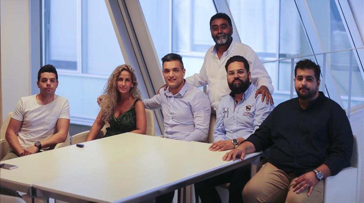 Isaac, Aroa, Aroon, Aurelio, Manuel y Juan, futuros universitarios, la semana pasada.