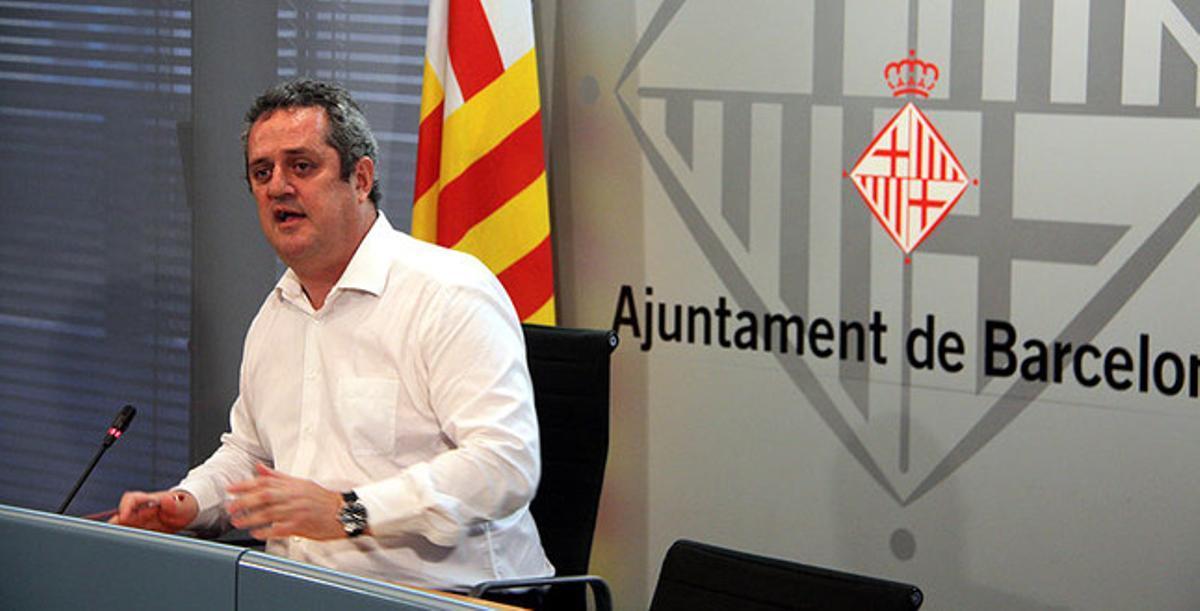 Joaquim Forn, durante la rueda de prensa que ha ofrecido este domingo.