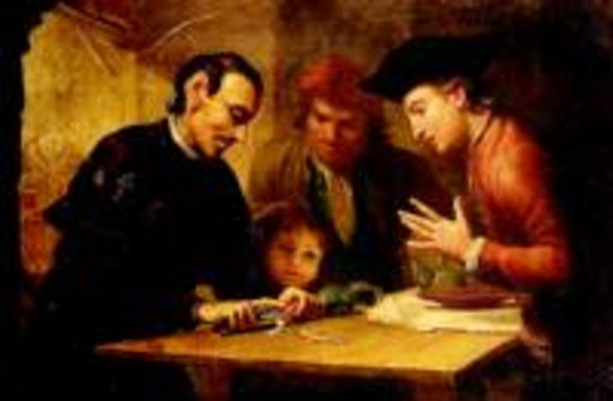 San José Oriol realizando el milagro del rábano, de Joseph Flaugier.