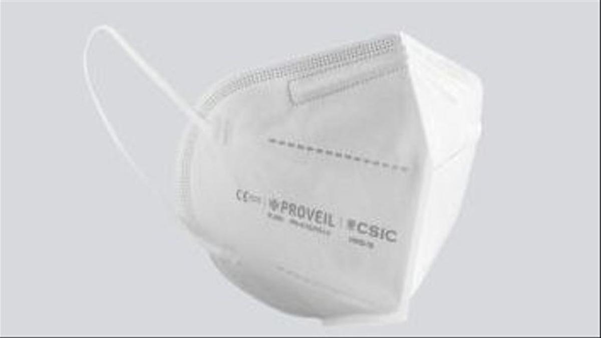 Mascarillas CSIC y Bionicia: FFP2 fabricadas en España con nanofibras de proveil que proporcionan mayor ajuste, eficacia y un uso más prolongado.