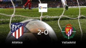 El Atlético de Madrid aprovecha la segunda parte para ganar al Real Valladolid (2-0)