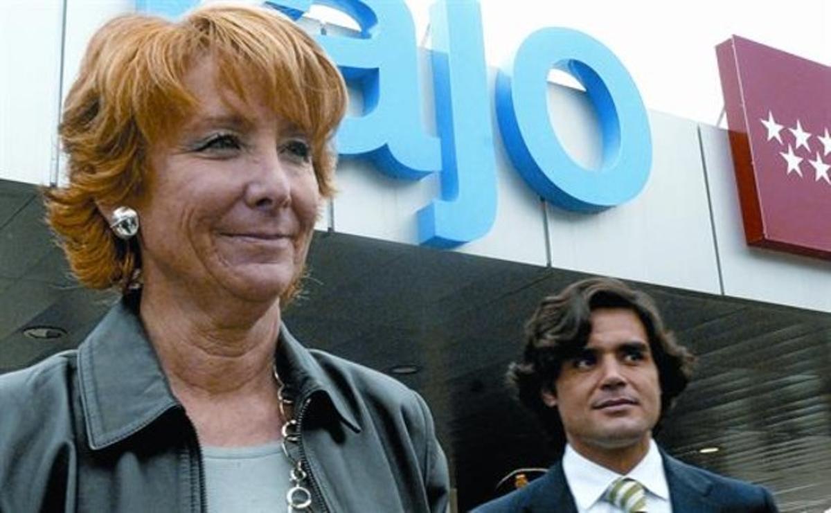 Aguirre y Güemes, en la inauguración de un hospital en Aranjuez, en el 2008.
