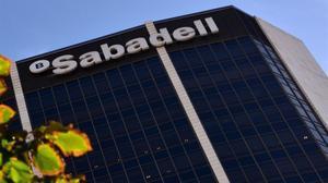 Edificio del Banc Sabadellen Barcelona.