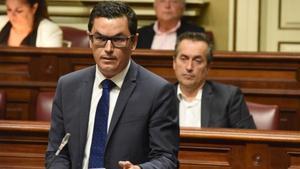 Canarias El secretario general de Coalicion Canaria en Gran Canaria  Pablo Rodriguez  en el Parlamento de Canarias