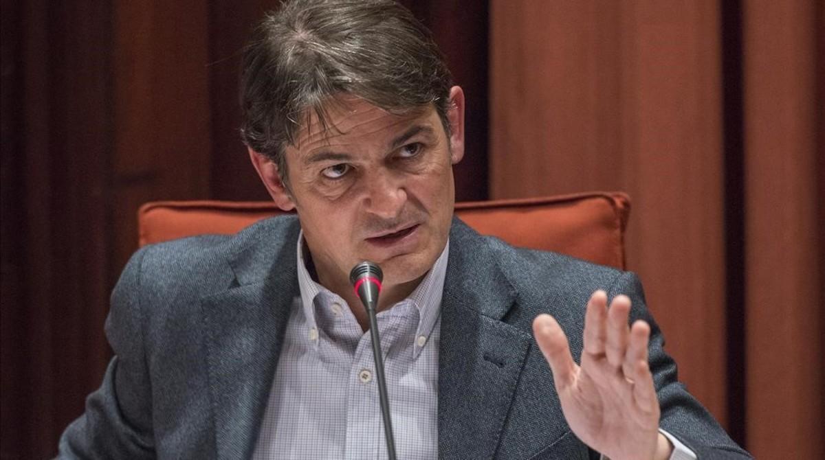 Oriol Pujol Ferrusola, en la comisión antifraude del Parlament, en marzo del 2015.
