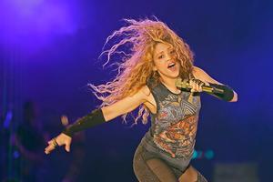 Shakira, durante un concierto en el Líbano, en julio del 2018.
