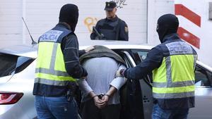 Detención de un yihadista en Valladolid, en septiembre del 2016.