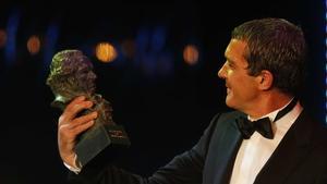 Antonio Banderas, amb el seu Goya honorífic.