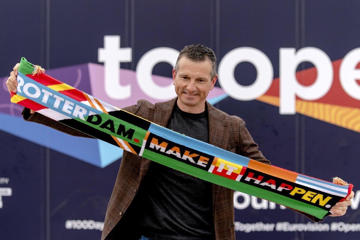 El extenista Richard Krajicek activa la cuenta atrás para el inicio de Eurovisión en Róterdam.
