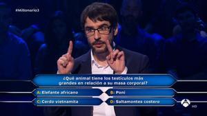 Juanra Bonet, en'¿Quién quiere ser millonario?'.