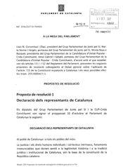 Texto de la resolución de Junts pel Sí y CUP sobre la DUI