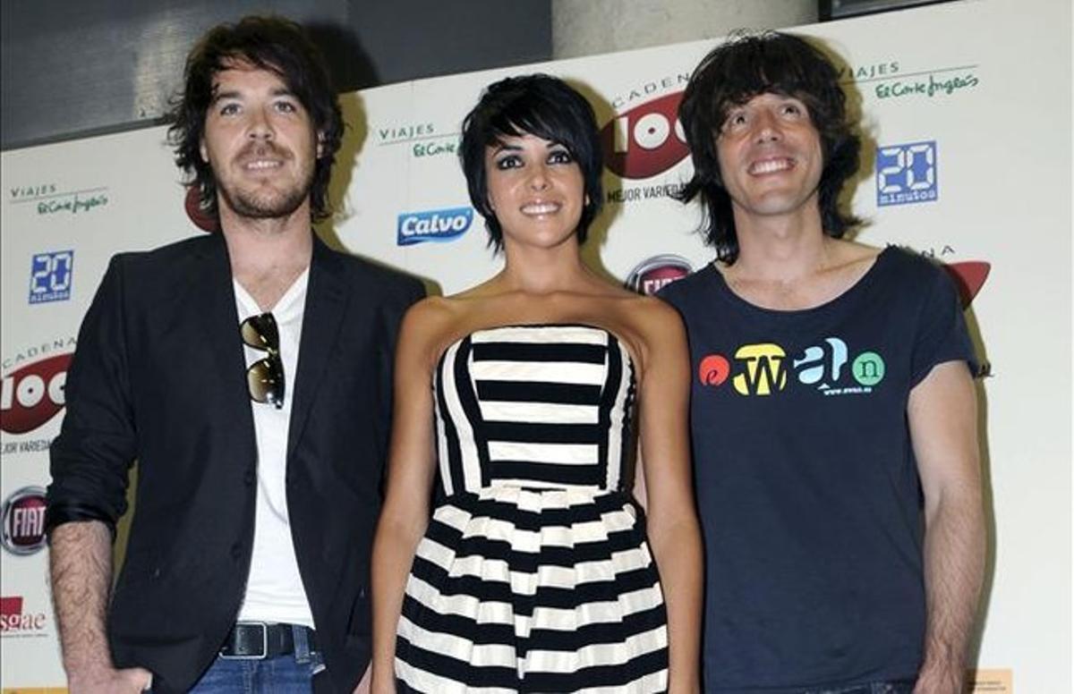 David Feito, Raquel del Rosario y Juan Luis Suárez, integrantes de El Sueño de Morfeo.
