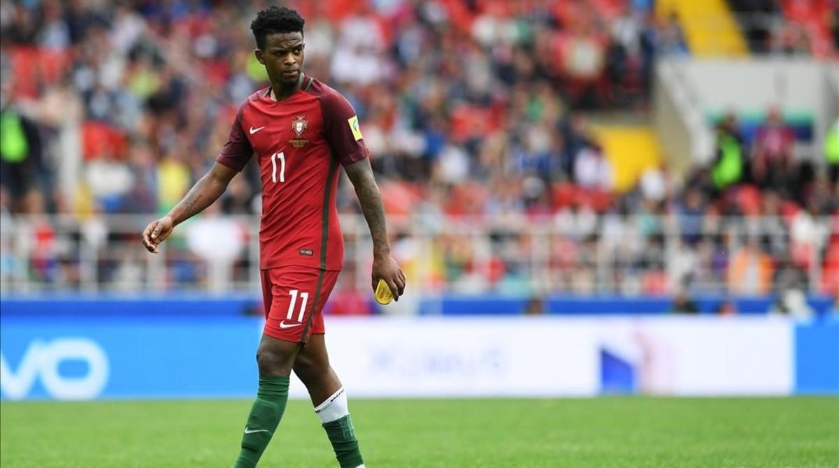 Semedo, durante un partido con Portugal contra México en la Copa Confederaciones celebrada en Rusia.