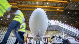 Presentación del Airbus A320 en septiembre del 2018.