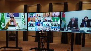 Una imagen de la cumbre virtual del G-20.