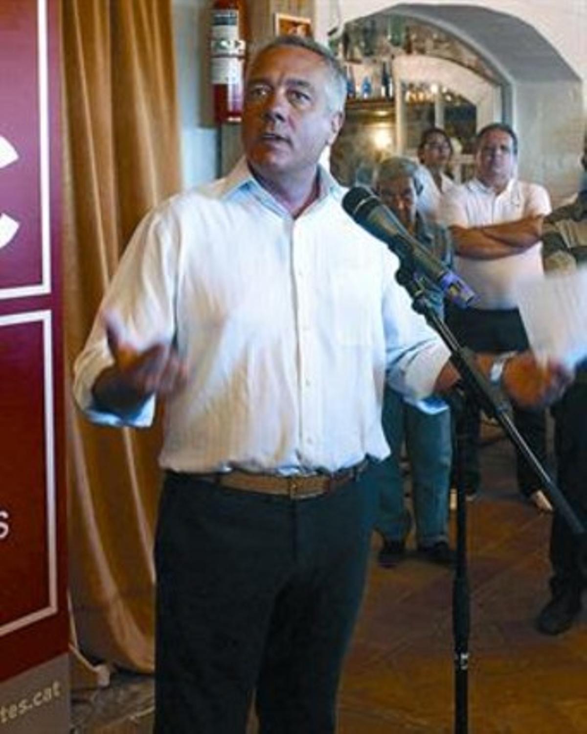 Pere Navarro, líder del PSC, el pasado miércoles en Palafrugell.