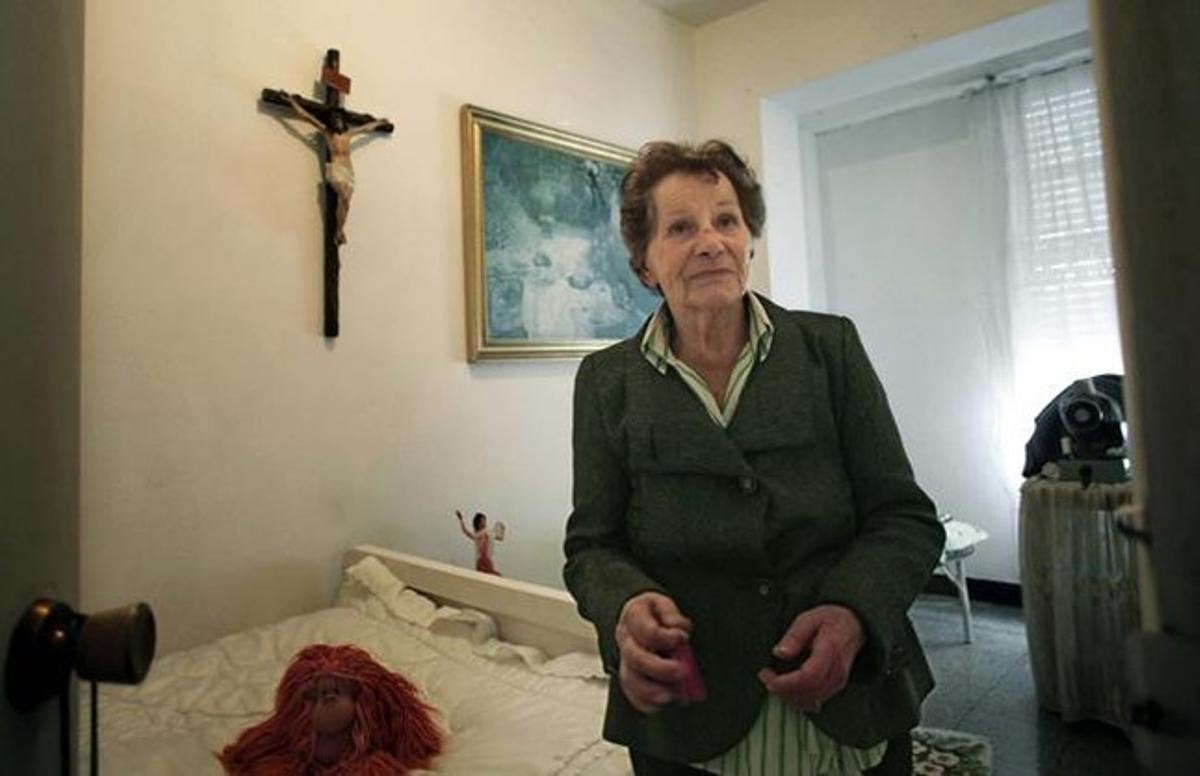 Aurelia Rey, la anciana pendiente de desahucio en su domicilio de A Coruña.