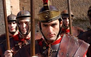 Soldados romanos, en DMAX.