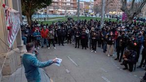 Concentració a la Universitat de Lleida davant un «imminent» desallotjament de Hasél