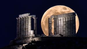 Templo de Poseidon. Cabo Sunion, 70 kilómetros al sur de Atenas. Grecia.