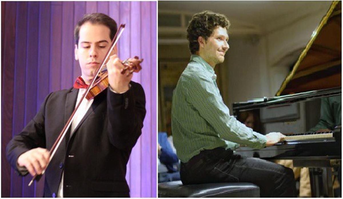 Pau Mercadal al violín y Rafael Roca al piano