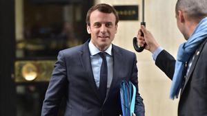 El candiato a la presidencia francesa, Emmanuel Macron.