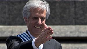 Imagen de archivo del 1 de marzo de 2015, día que Tabaré Vazquez asumió por segunda vez la presidencia de Uruguay.