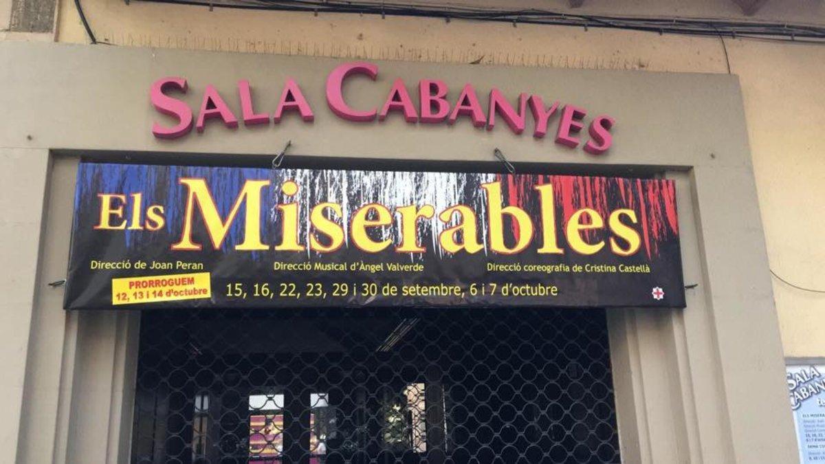 La Sala Cabanyes de Mataró ofereix teatre i grans musicals 'online'