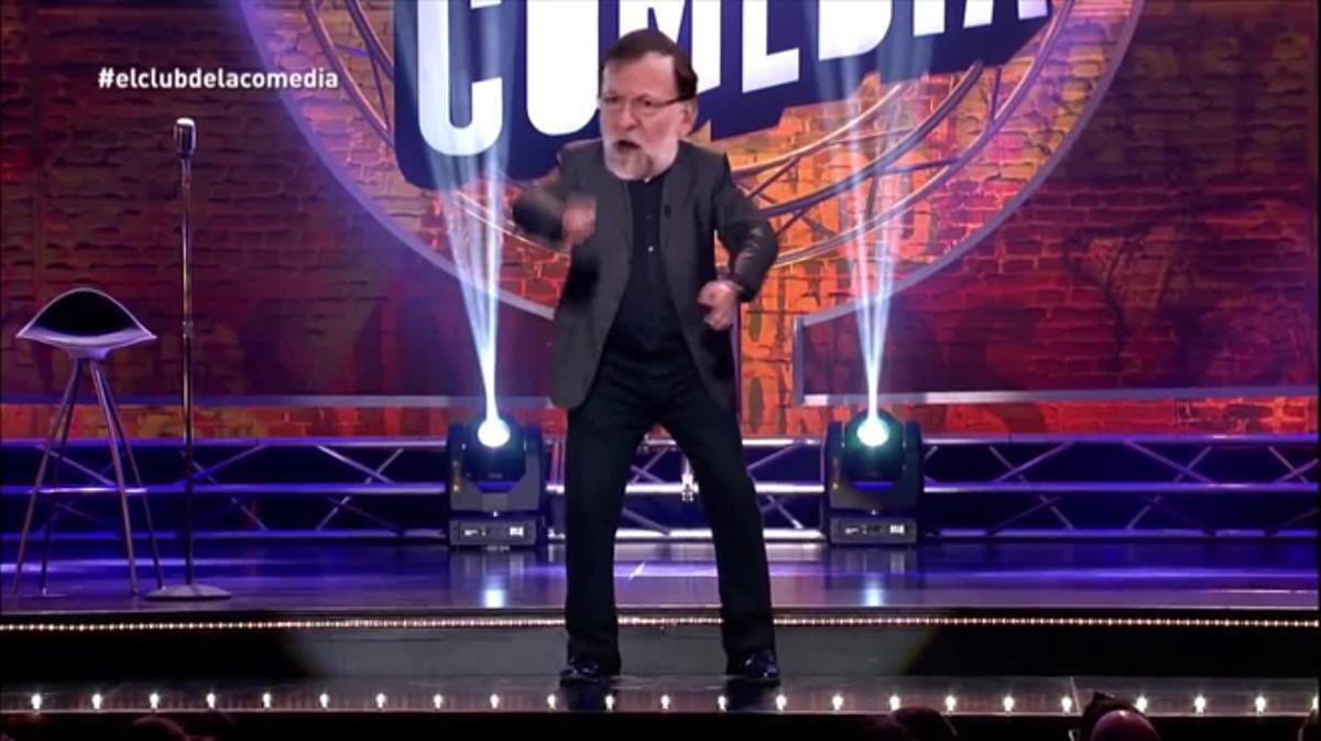 Rajoy en el club de la comedia