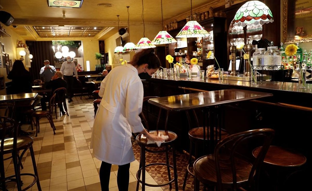Interior de un bar en Pamplona.