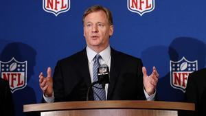Roger Goodell, comisionado de la NFL, en una comparecencia en Atlanta.