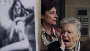 La abuela Herminia horrorizada ('Cuéntame').