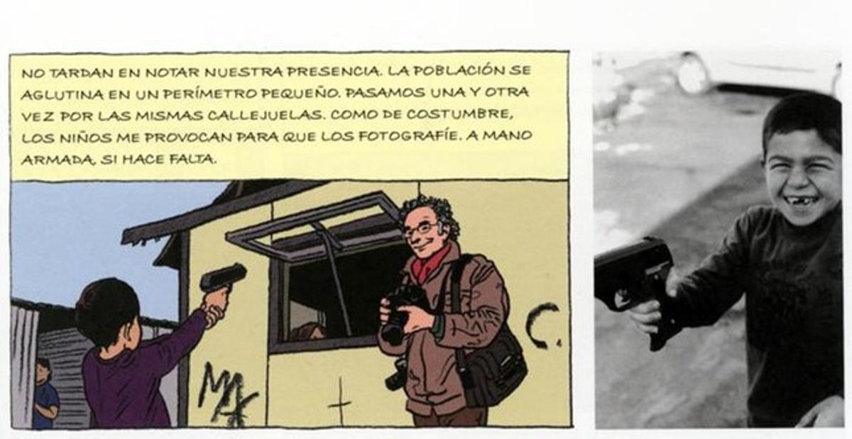 Mezcla de cómic y fotografía en 'Un viaje entre gitanos'.