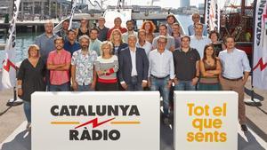 Los realizadores de Catalunya Ràdio, durante la presentación de la nueva temporada.