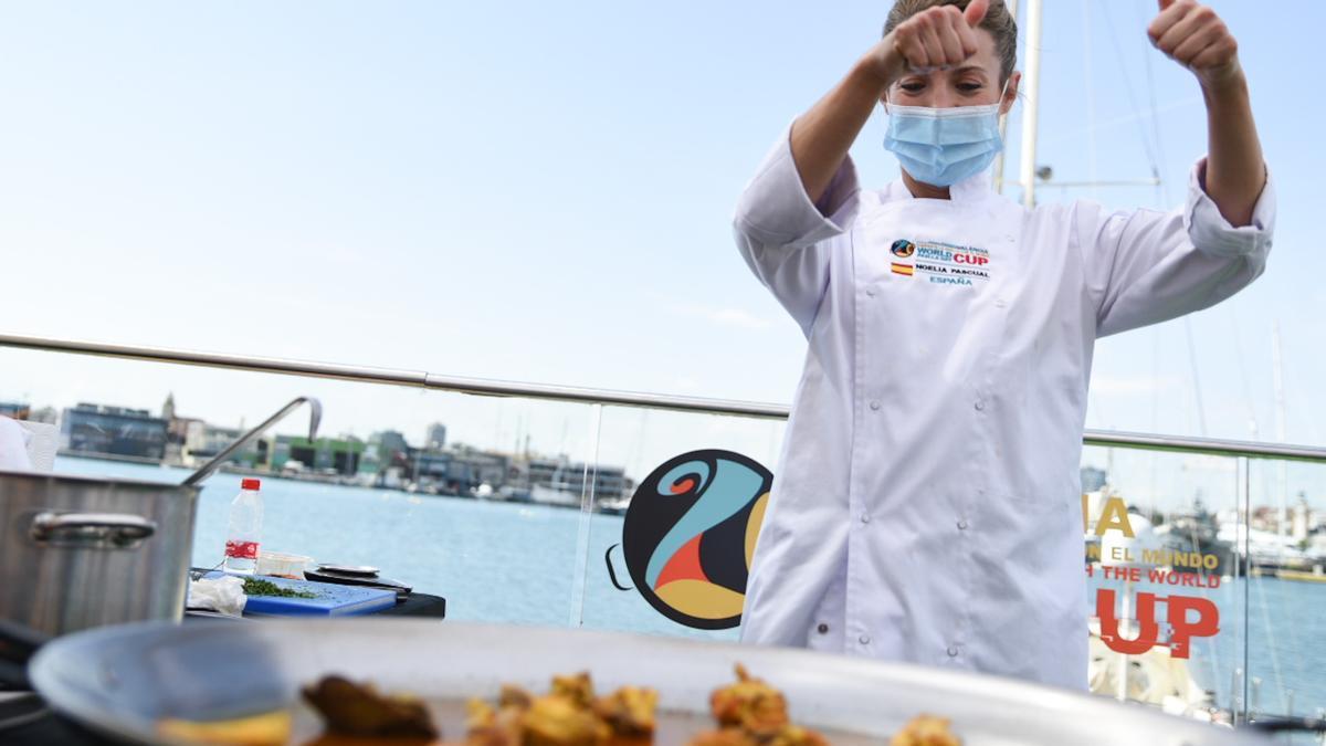 La cocinera Noelia Pascual, campeona mundial de paella