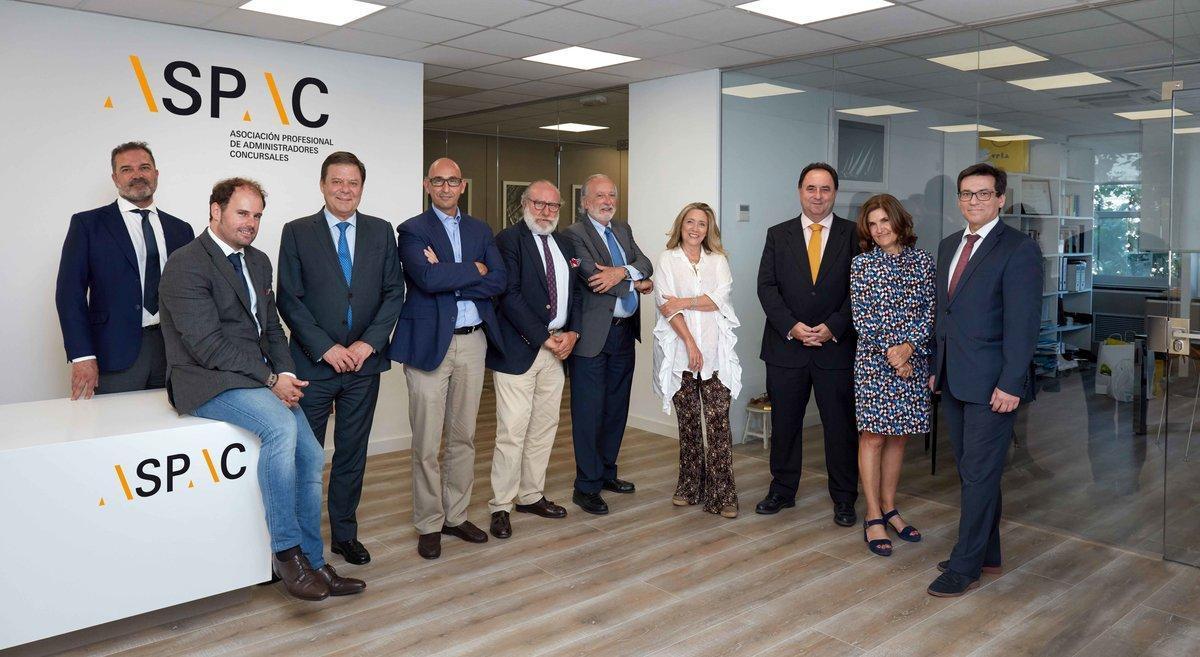 Miembros de la Junta de la Asociación Profesional de Administradores Concursales (Aspac).