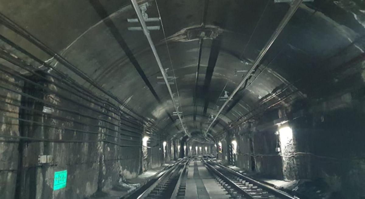El túnel de FGC en L'Hospitalet de Llobregat.