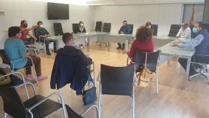 Reunión celebrada en Alcarràs (Segrià) que concentraba a alcaldes y concejales de varios municipios leridanos y aragoneses.