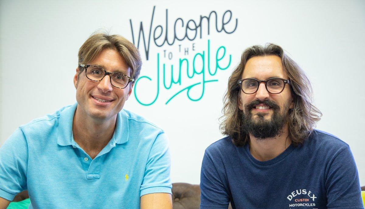El director en España de Welcome To The Jungle, Sergio Balcells (izquierda), junto al consejero delegado y fundador de la compañía, Jérémy Clédat (derecha).