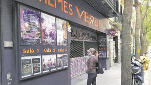 Cines Verdi de Barcelona cerrados durante la pandemia