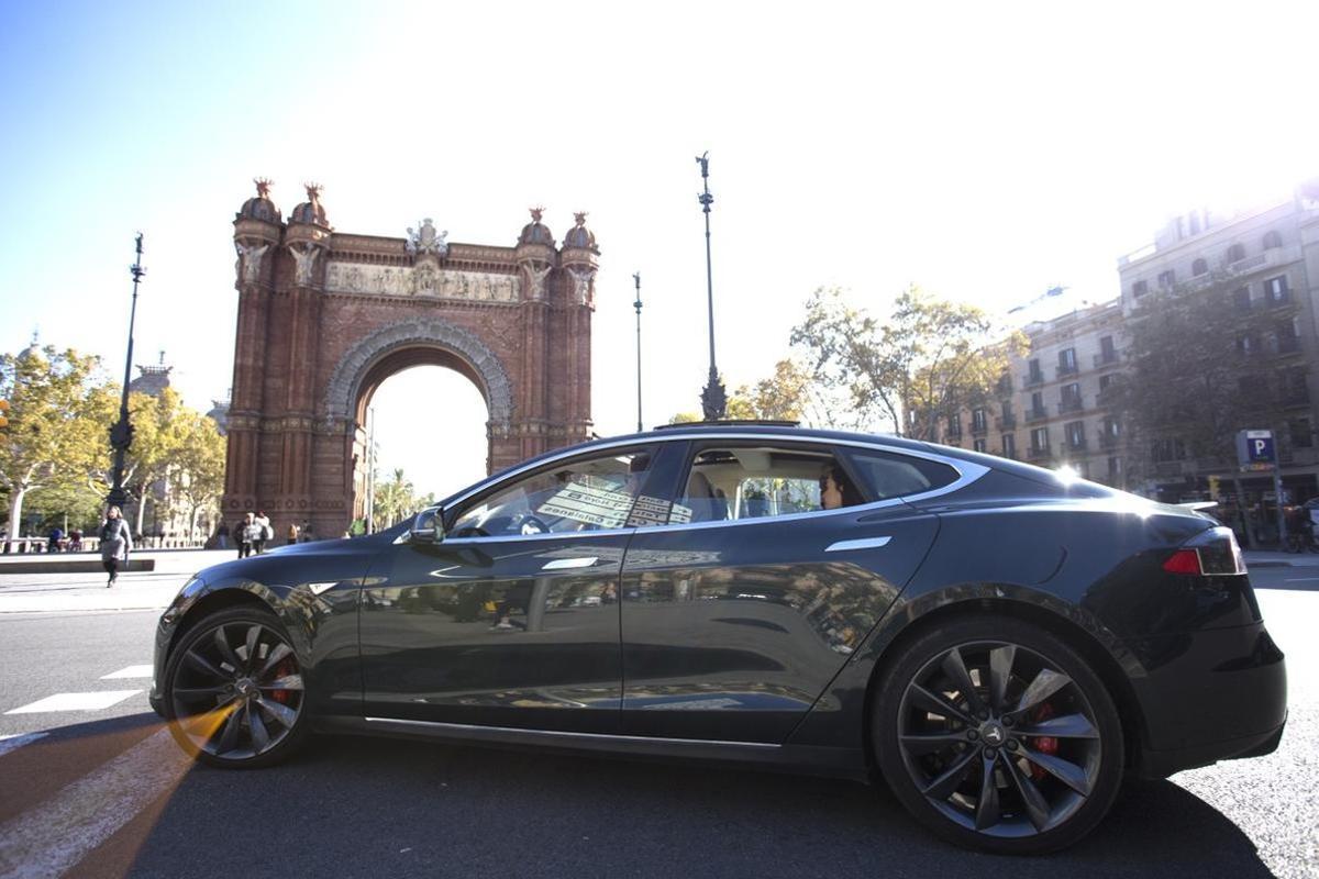 Un coche de Cabify en Barcelona.