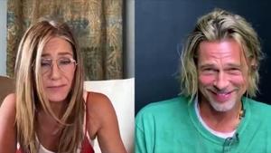 Brad Pitt y Jennifer Aniston participaron en una lectura de guion por videoconferencia organizada por la oenegé de Sean Penn.