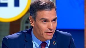 El presidente del Gobierno, durante la entrevista en TVE.