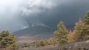 Rayos volcánicos en La Palma
